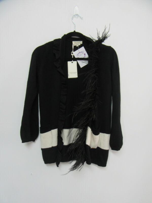 NWT TWINSET black cardigan girls sz 10Y
