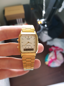 Gold casio watch Woolooware Sutherland Area Preview