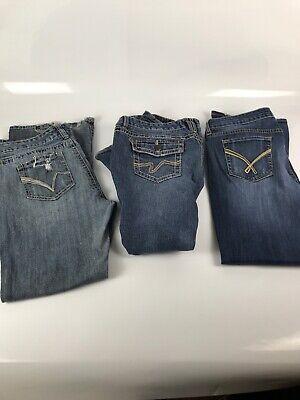Lot Of 3 Ladies Vanity Designer Jeans Size 32w 29l