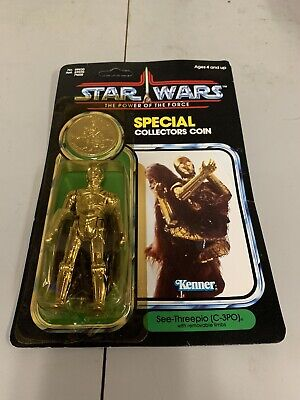 Vintage Star Wars  1984 C-3PO Action Figure WITH COIN Action Figure Coin