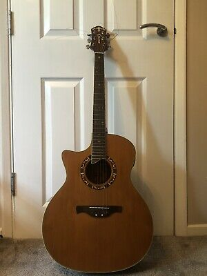 Guitar: Left handed Crafter GAE-15L electro-acoustic