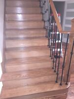 Stairs Recapping/Refinishing Handrails Spindles