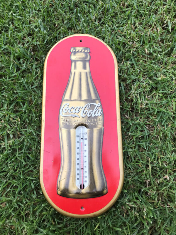 STUNNING VINTAGE COCA COLA COKE 1923 THERMOMETER WOW!!!