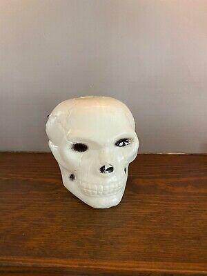 Vintage 70s Halloween Plastic Skull Blowmold Foam Blow Mold Decoration RARE