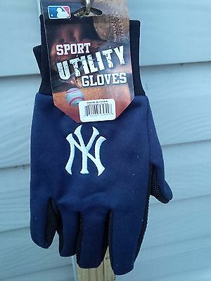 MLB NEW YORK YANKEES LOGO SPORT UTILITY WORK GLOVES GRIP