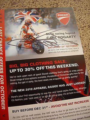 """Carl """"Foggy"""" Fogarty signed Ducati open day brochure"""