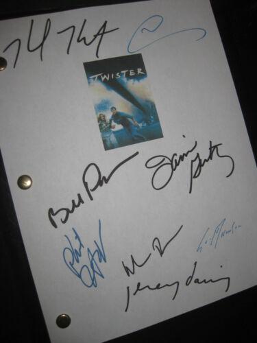 Twister signed film script X8 Helen Hunt Bill Paxton Elwes Seymour Hoffman Repnt