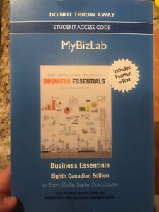 Business Essentials (8th Canadian edition) with code