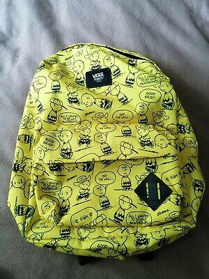 Rucksack Bag Snoopy yellow Peanuts Charlie Brown Vans BNWT NEW!