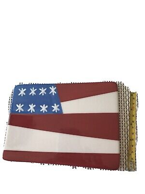 Coton Colors Happy Everything Big Large Attachment Flag USA 4th Of July Pre-owne