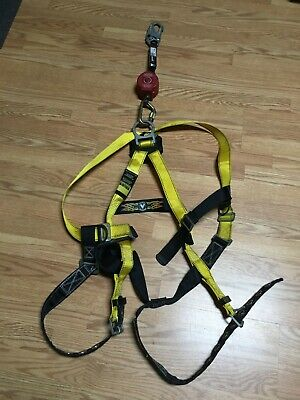 Guardian Full Body Safety Harness Size S-l With Miller Retractable Lanyard