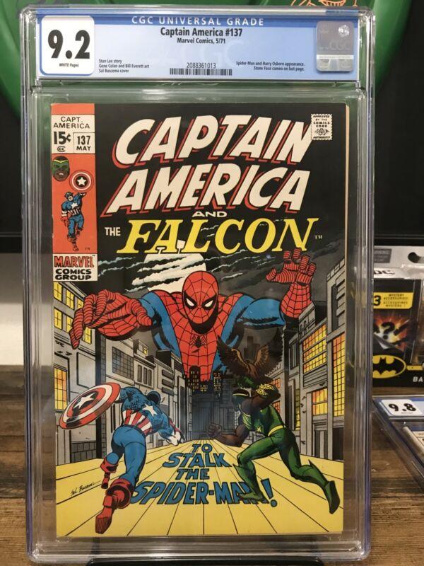 Captain America 137 Cgc 9.2 Spider-Man, Falcon Appearance