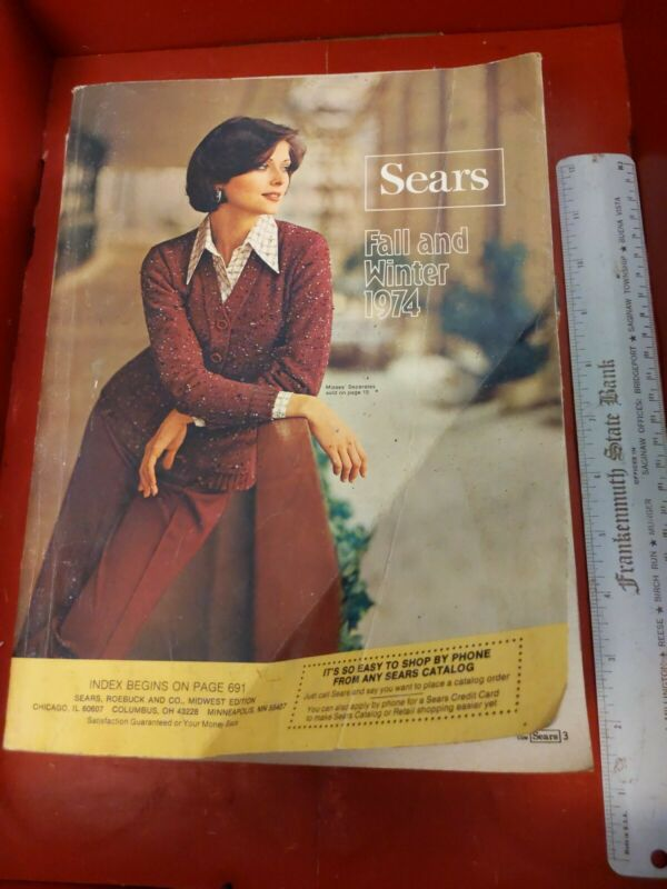 1974 Vintage Sears Roebuck  Fall & Winter Catalog Fashion Furniture 70