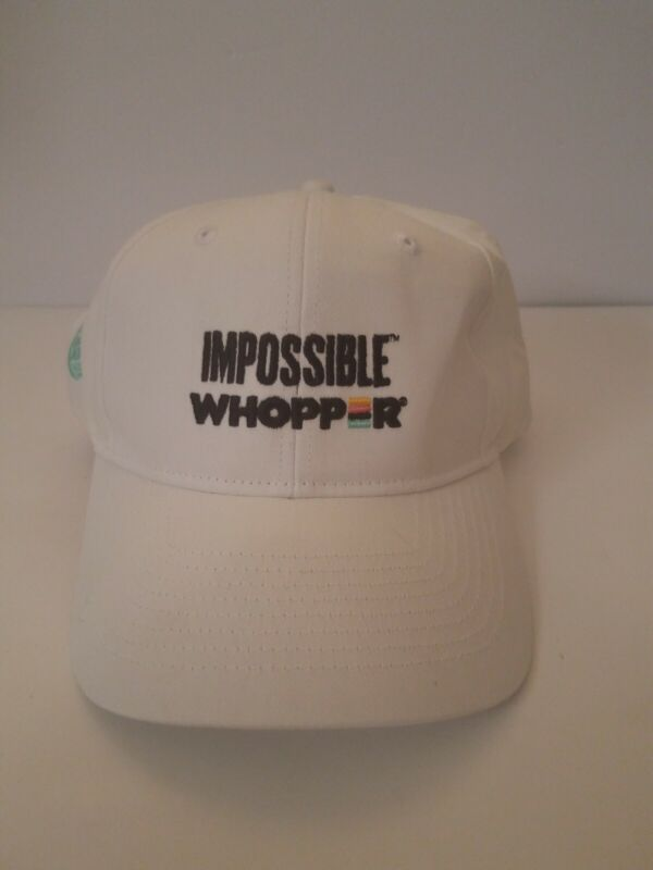 Burger King Crew Baseball Cap Impossible Whopper Rare HTF Excellent Condition