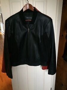 Faux black leather jacket