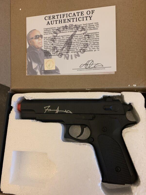 FRANK LUCAS SIGNED AIR PISTOL K6 In Original Box w/Photo Proof & COA