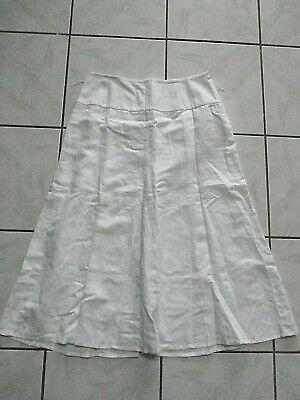 Bandolino Midi Maxi Skirt White A-line boho WOMENS SZ 10 Lining D42