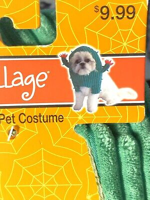 Easy Halloween Dog Costumes (Spooky Village Pet Cactus Costume Size  Small Dog Halloween Green Cute and)