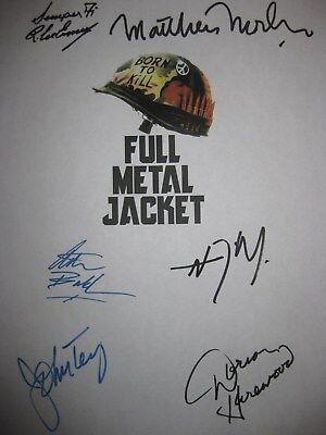 Full Metal Jacket Signed Film Script X6 R. Lee Ermey Matthew Modine D'Onofrio rp