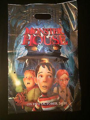 Vintage 2006 Monster House 12x18 Plastic Halloween Goodie Bag