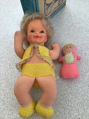 Vintage Talking Twosome Dolls by Mattel. Mummy and Baby Doll.