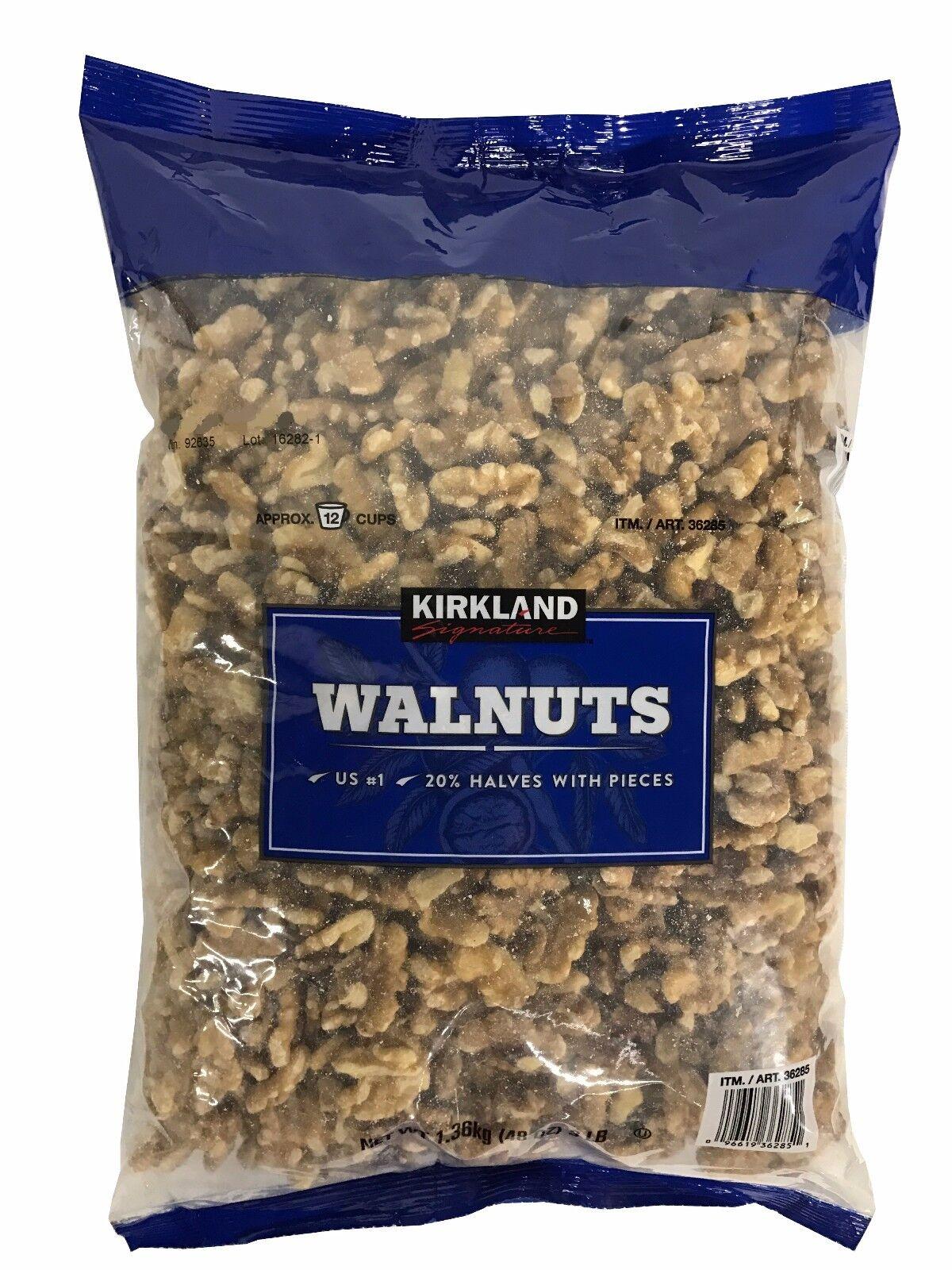 Kirkland Signature Walnuts 48oz Pack Us #1 Quality 3 Lb