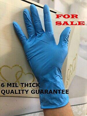 6 Mil Heavy Duty 50box Powdered Durable Hand Nitrile Gloves Blue Non Latexviny