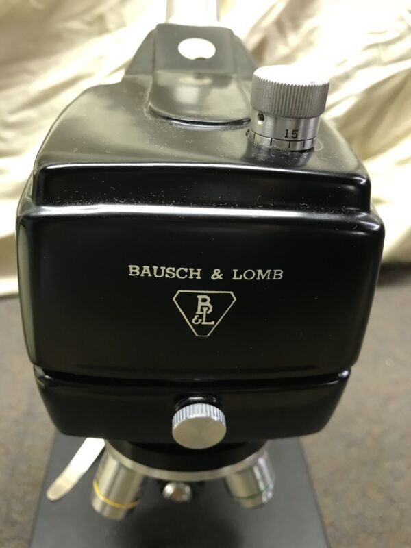 VINTAGE ANTIQUE MICROSCOPE BAUSCH LOMB G.S.C.  NOS Never Used Mint Insp. Sticker
