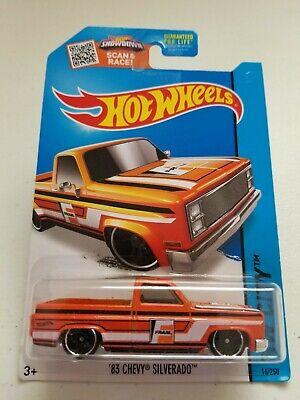 2015 Hot Wheels '83 Chevy Silverado FRAM Orange HW City #16/250