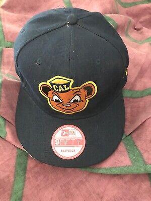 UC Cal Berkeley Golden Bears Baseball Cap Hat Wool Big Logo Blockhead SnapBack Cal Berkeley Bears