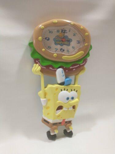 Rare Spongebob Squarepants Viacom wall Clock 2004