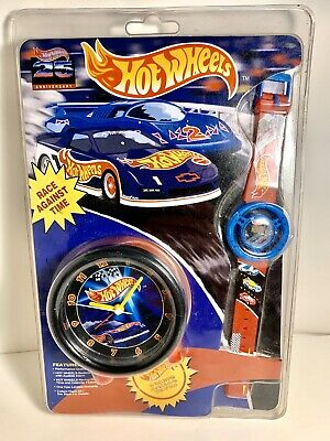 "Hot Wheels ""Race Against Time"" Racing Watch And Bedside Alarm Clock NEW IN BOX"