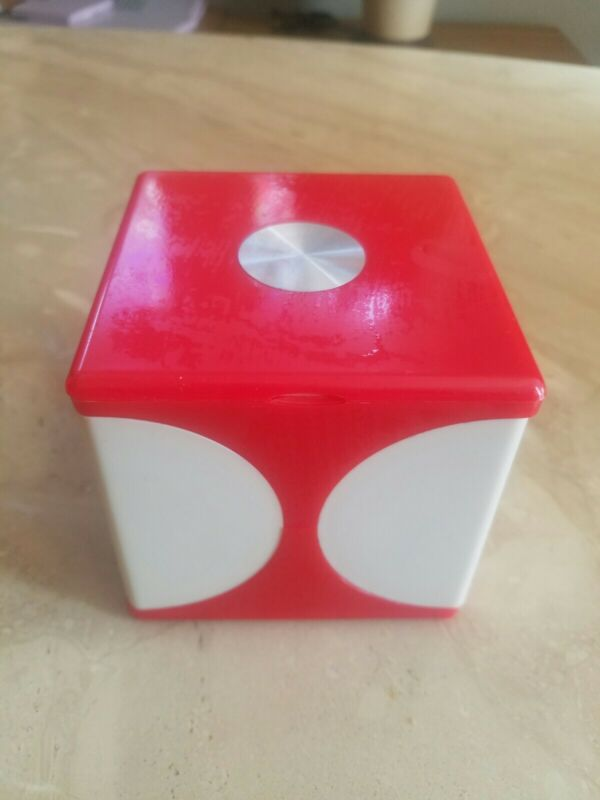 Vintage Mid Century Modern plastic cover Vanity Storage box ,retro makeup case