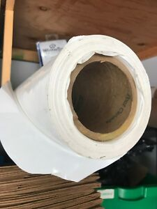 Roll of thick white plastic
