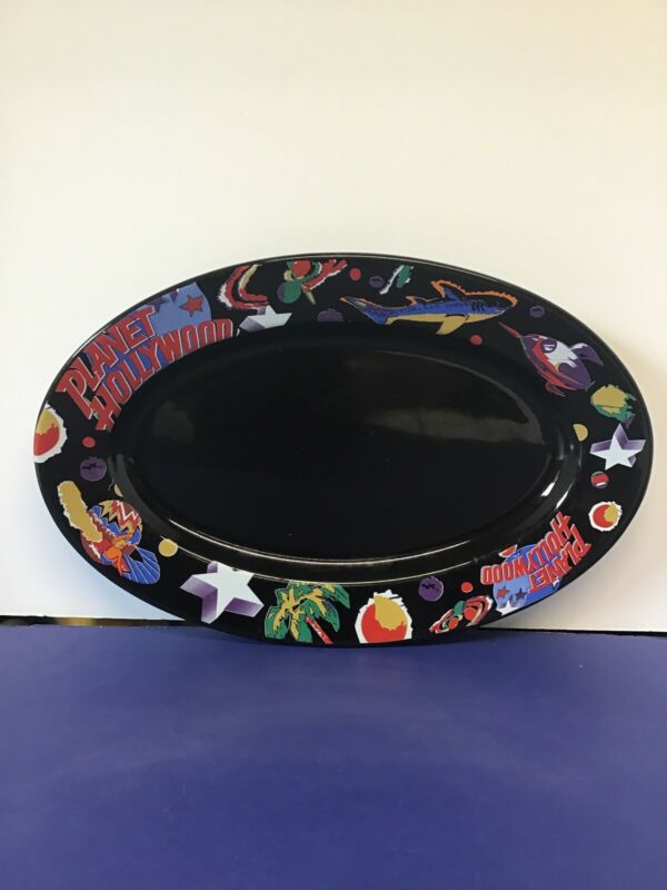 Planet Hollywood~ Black Oval Serving Platter Dish