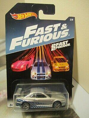 Hot Wheels 1:64 scale Fast & Furious Nissan Skyline GT-R (R34)