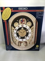 Seiko Melodies in Motion 2007 Collectors Edition 14 Tune Swarovski Crystal Clock