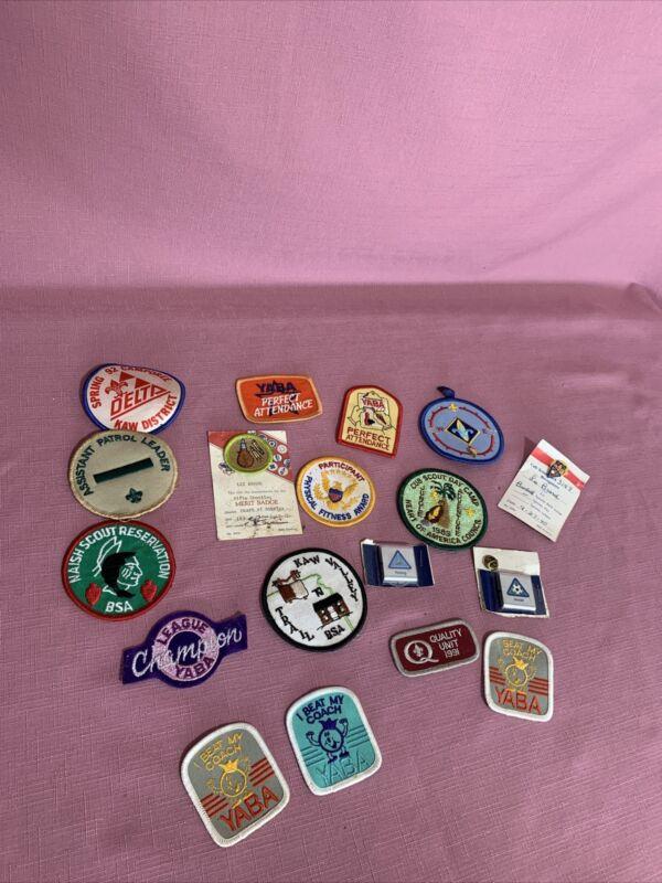 Boy Scout Merit Badges Patches Pins Lot Y