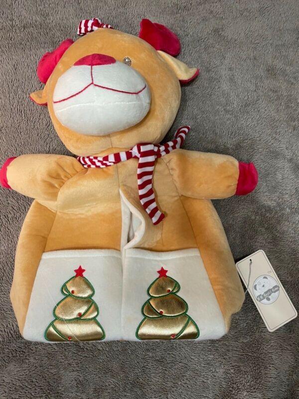 "H H Hapi i Home Baby Hanging Diaper Stacker/Storage Christmas Santa Reindeer 17"""