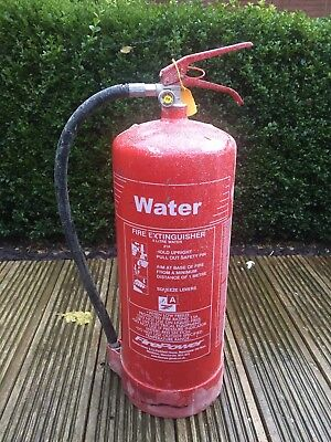 9 Litres Water Fire Extinguisher - Good Pressure, Garage, Shed , Home Bar Safety