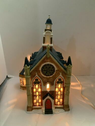 Porcelain Lighted House Church of Christmas Village