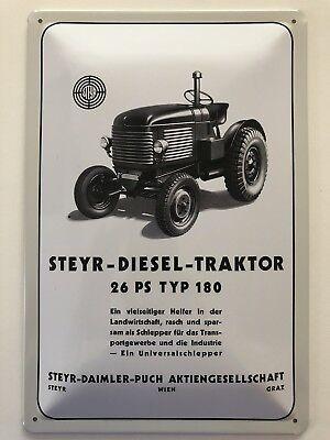 Blechschild 30 X 20 cm Steyr Daimler Puch 26 PS Typ 180