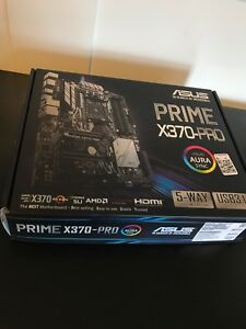 ASUS PRIME X370-PRO Motherboard and Ryzen 5 1600x (Brand New)