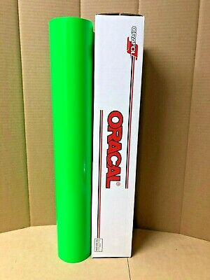 Oracal 6510 1 Roll 24x10 Yards Fluorescent Green 069 Sign Vinyl