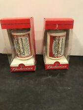 Budweiser Classic Logo Beer Can Glass Christmas Ornament ...