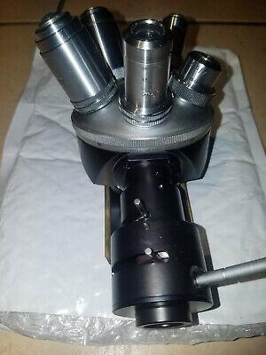 Leitz Wetzlar Microscope Turret Nosepiece With 5 Objectives