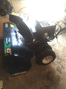"420cc MTD 45"" cut snowblower great condition."