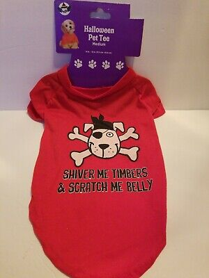 HALLOWEEN PIRATE THEME DOG T-SHIRT~PERFECT FOR HALLOWEEN](Halloween T Shirts For Dogs)