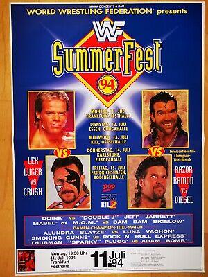 WWF - WRESTLING  1994  FRANKFURT  --  orig. Tour Poster - Plakat  A1  NEU