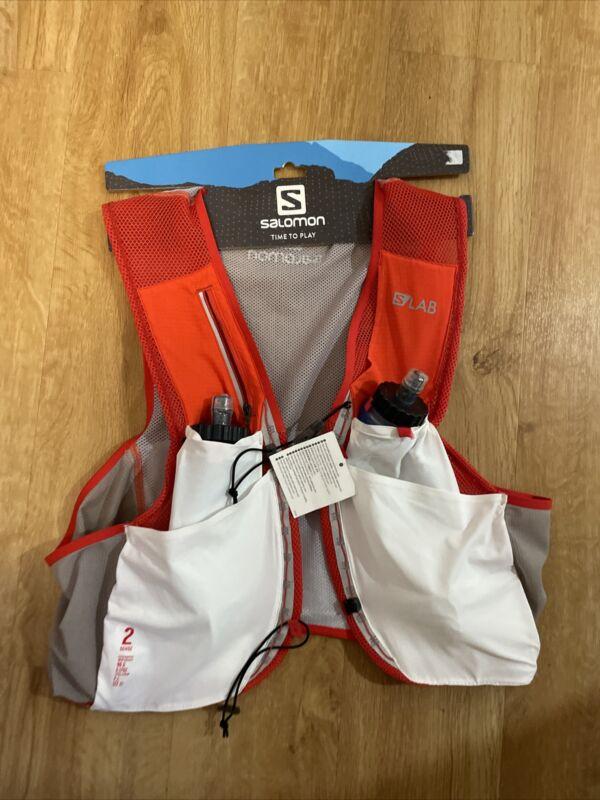 Salomon S/Lab Sense 2 Set Hydration Running Vest XL White And Red
